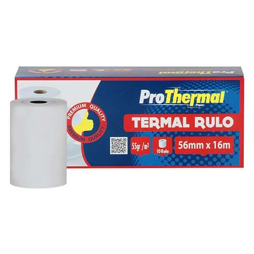 PROTHERMAL 56 MM X 16 MT TERMAL RULO 10 LU PAKET